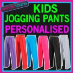CHILDRENS KIDS JOGGING PANTS BOTTOMS JOGGERS JOG PANTS  PERSONALISED CLUB LOGO